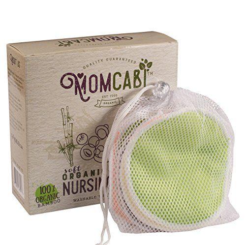 b83eb85c16c Reusable Nursing Pads 8 Pack Leak Proof Layer Washable made from organic  bamboo Plus Laundry Bag *** Amazon most trusted e-retailer  #BreastfeedingNeeds