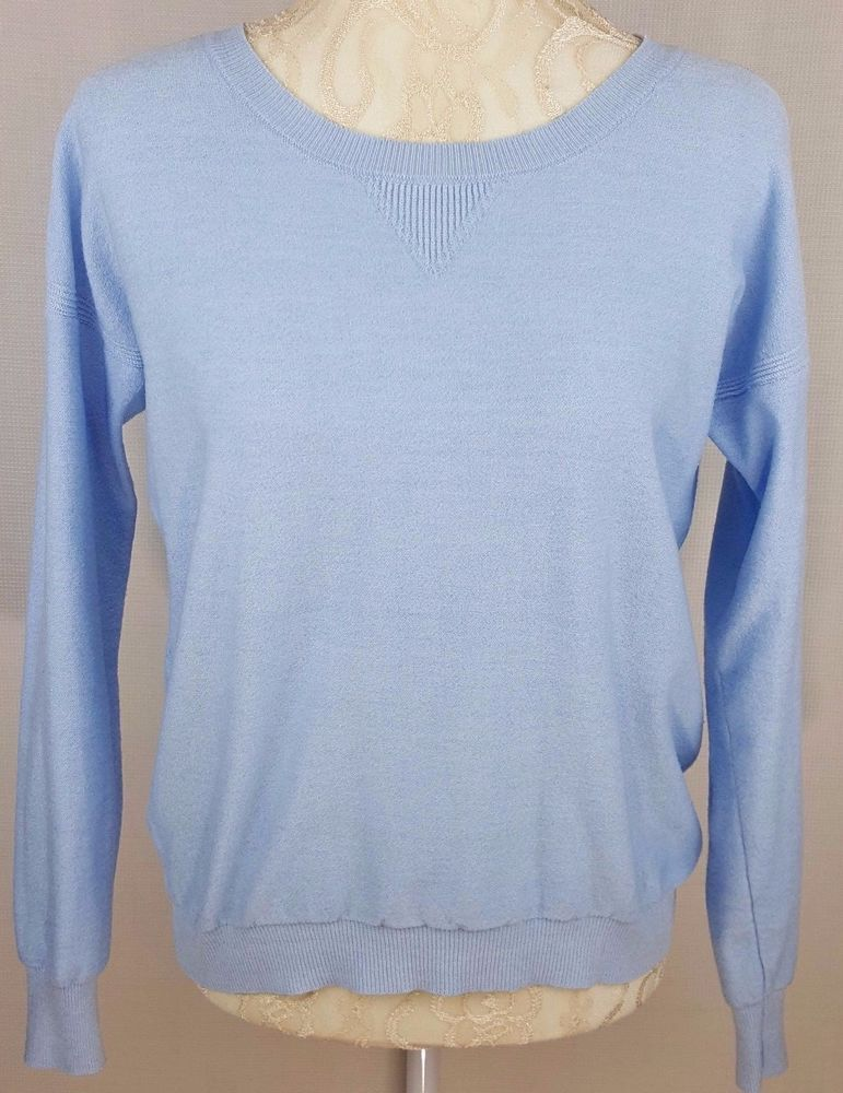 017c87580e31 Womens Baby Blue Long sleeve sweater sweatshirt by Poof Size Large ...