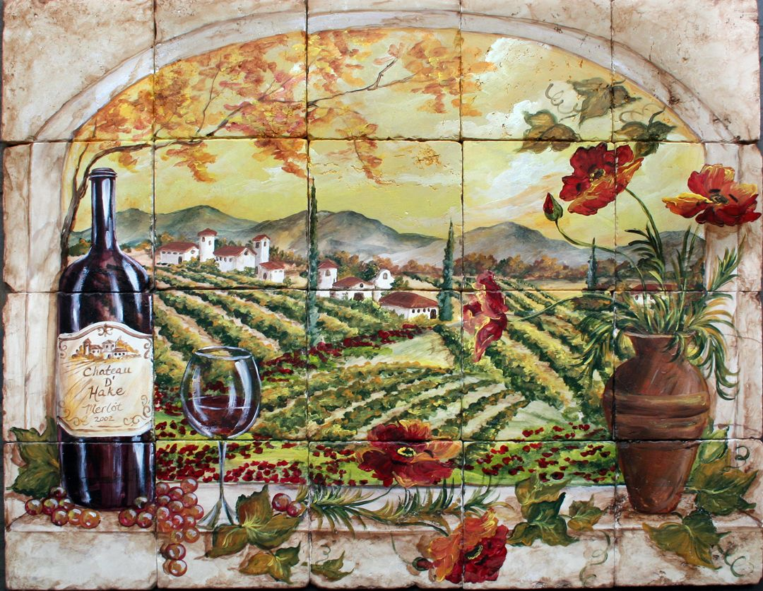Custom hand painted tile murals tiles pinterest tile murals custom hand painted tile murals dailygadgetfo Image collections