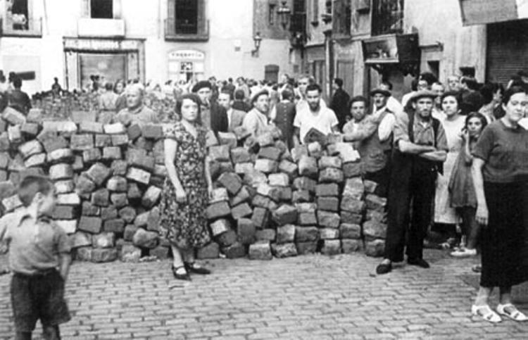 Barricadas en Barcelona 1936