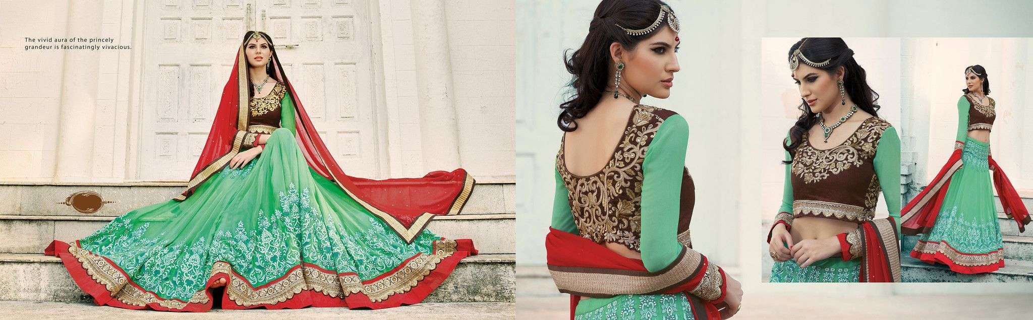 Women's Pretty Circular Lehenga Style in Green Color