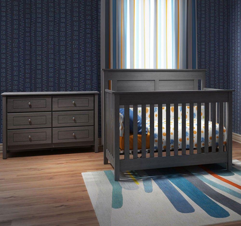 Offspring Hampton 2 Piece Nursery Set Crib And Double Dresser Nursery Set Cribs Childrens Furniture [ 938 x 1000 Pixel ]
