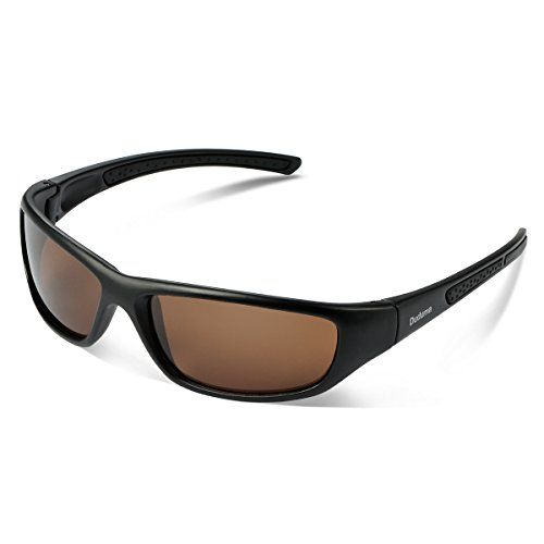 02efcd3b3d8 Duduma Tr8116 Polarized Sports Sunglasses for Baseball Cycling Fishing Golf  Superlight Frame Black matte frame with brown lens    You can get addit…