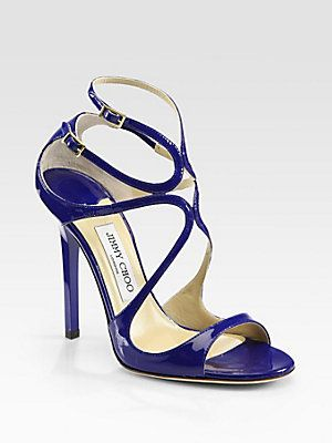 Jimmy Choo Lance Strappy Patent Leather Sandals