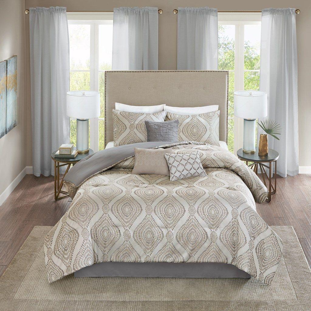 Madison Park Jules 7 Piece Comforter Set Comforter Sets Bed