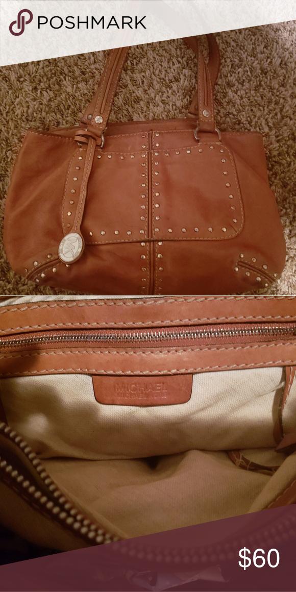 Vintage Michael Kors Handbag Leather Studded