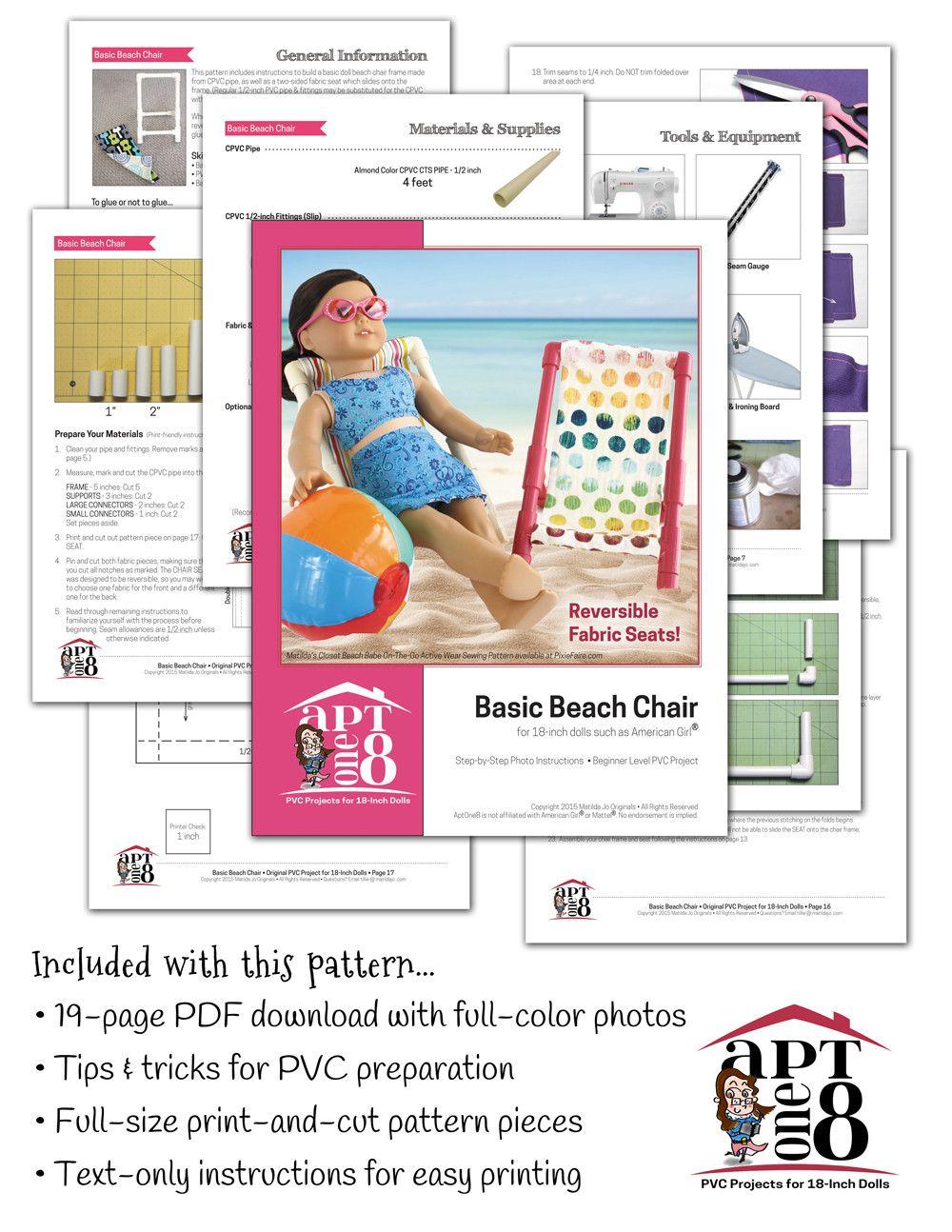 Free Basic Beach Chair 18 Pvc Pattern