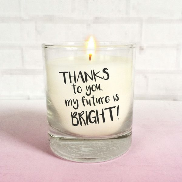 Personalised Christmas Teacher Teacher/'s Assistant Thank You Candle Gift