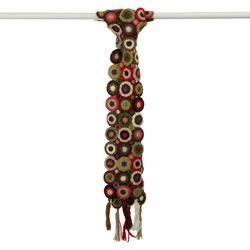 @Overstock - Hand-crocheted scarf features a fun circle design with bold colors  Accessory is handcrafted of pure, natural wool  Wrap features three long tassels on each side for a stylish lookhttp://www.overstock.com/Worldstock-Fair-Trade/Handmade-Earth-Tara-Circle-Wool-Scarf-Nepal/4271783/product.html?CID=214117 $24.99