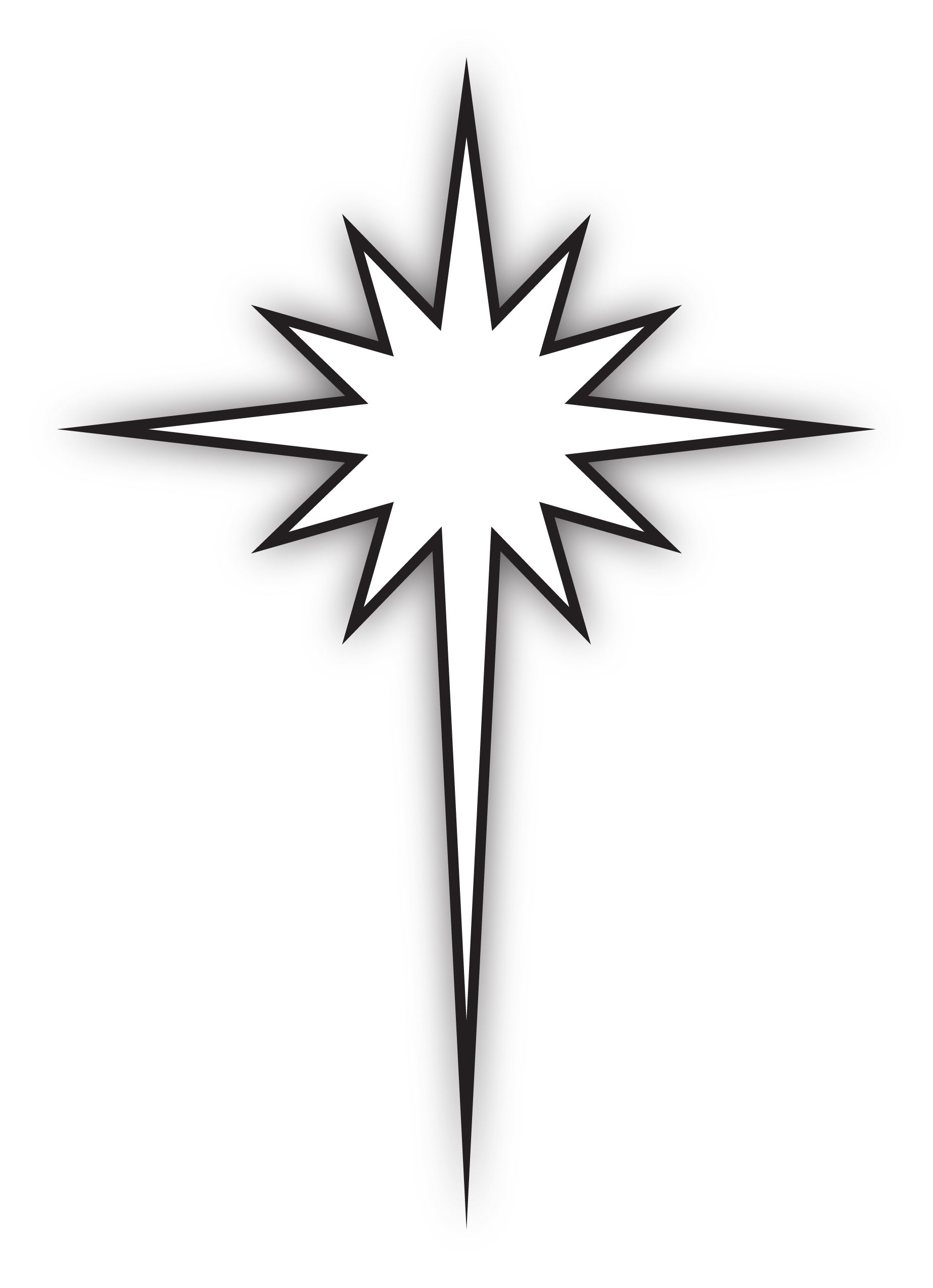 the logo merges the cross shape of christ with the epiphany star rh pinterest com Nativity Star Clip Art Christian Christmas Star Clip Art