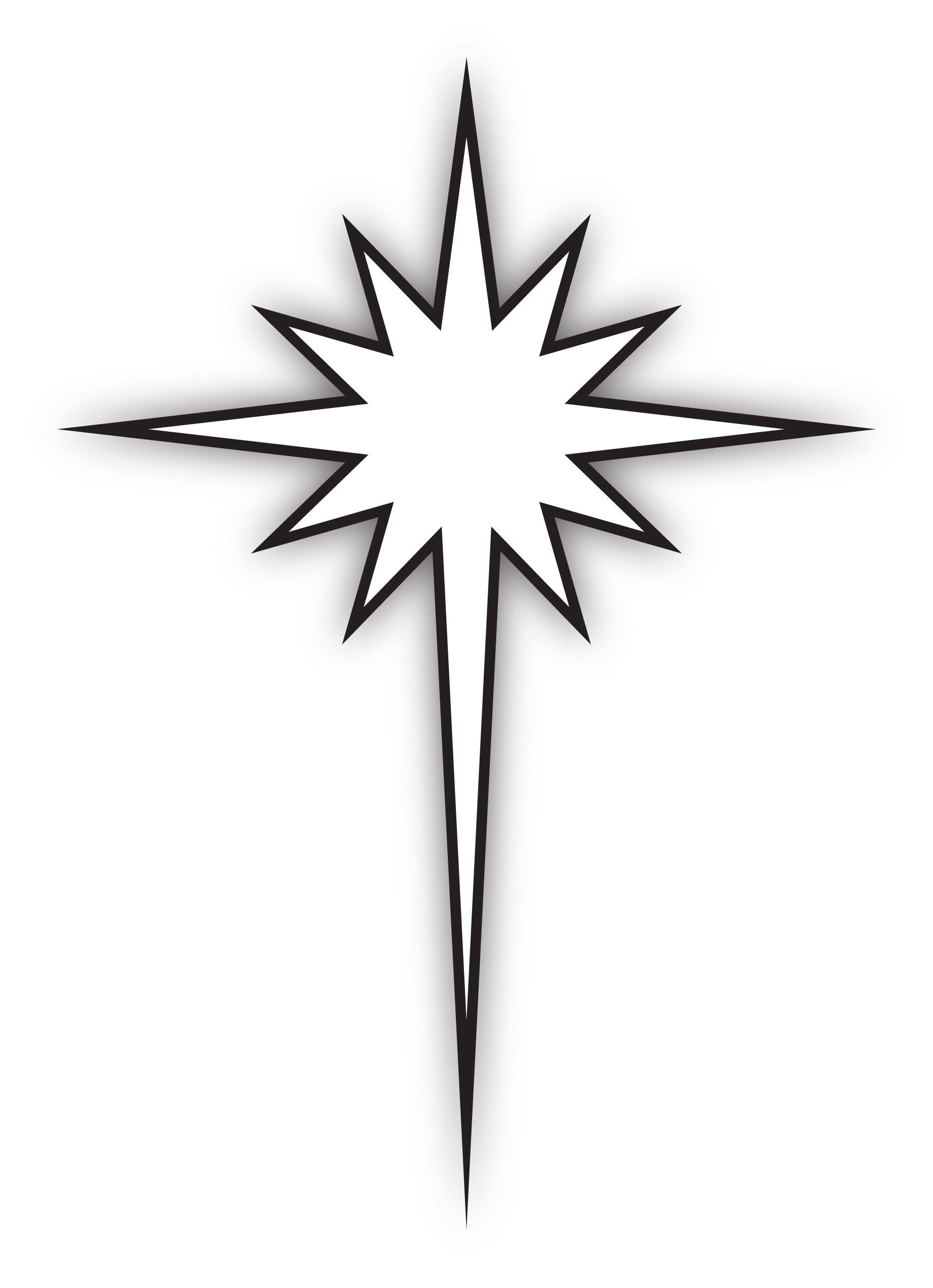 black and white star of bethlehem Car Tuning Star of