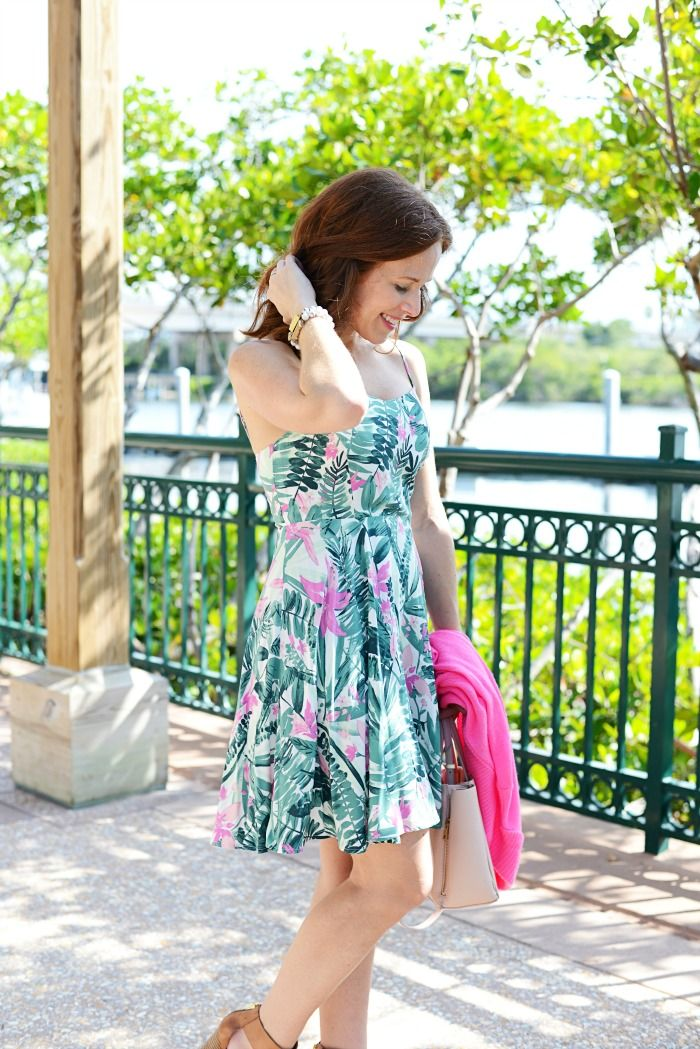 1f2dee0587b palm print! test out this fun trend with this gorgeous under  30 dress