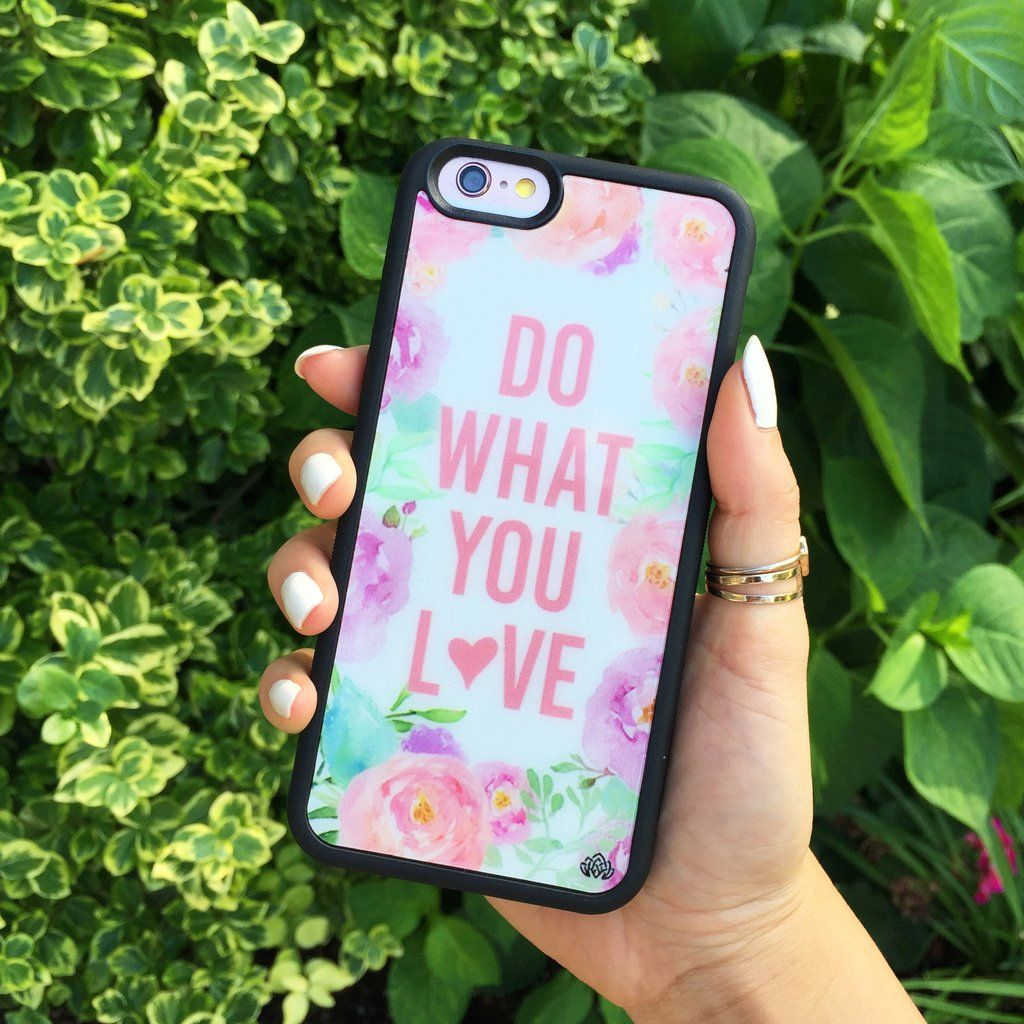 Do What You Love Protector Case Accessories Phone Cases Floral