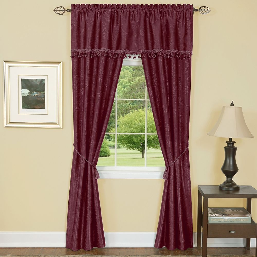 Dark Red Blackout Curtains Harrison Blackout Curtain Set Dark Red Products Leaf Curtains