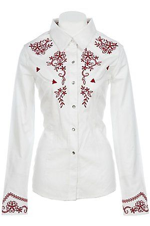Victorian Vines : Womens Embroidered Cowgirl Shirt | Free Shippin on Western  Shirts