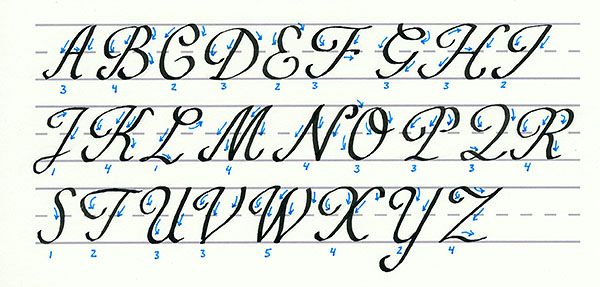 how to write e in calligraphy