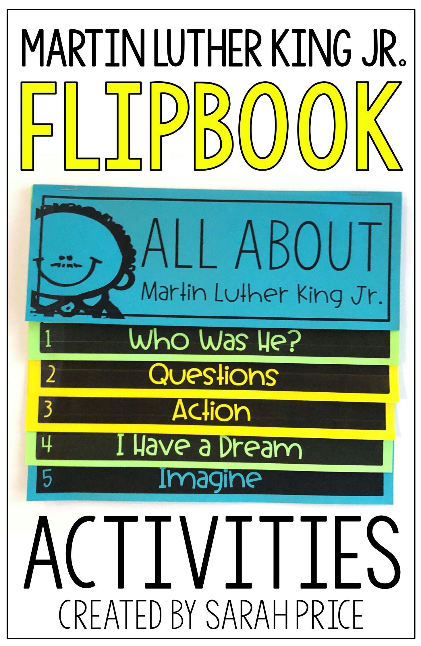 Martin Luther King Jr Activities Flip Book