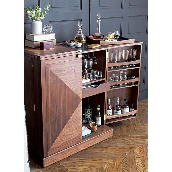 Delightful Maxine Bar Cabinet In Bar Cabinets | Crate And Barrel