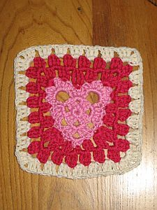 Heart Granny Square Favourite Stuff Pinterest Heart Granny