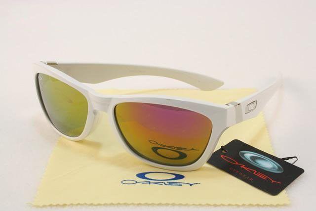 f2bbbbee76a cheap Oakley Jupiter Sunglasses polished white frames pink-orange Iridium  sale online