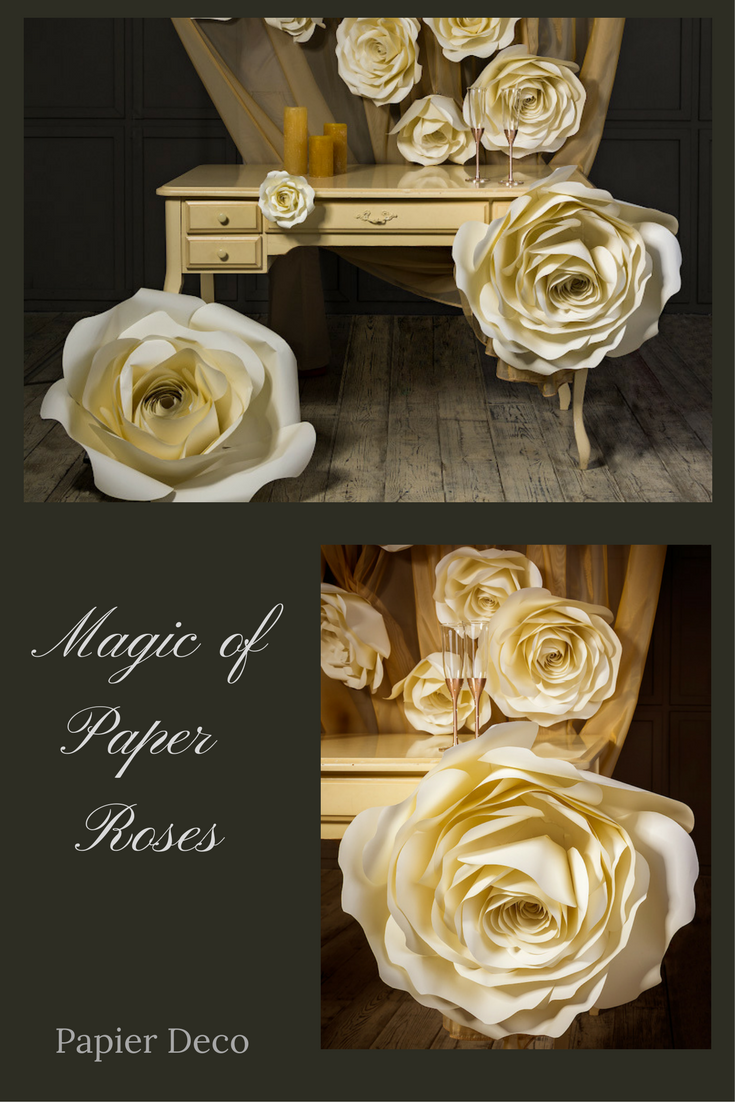 Large Paper Flower Paper Rose Paper Flower Wall Oversized Paper