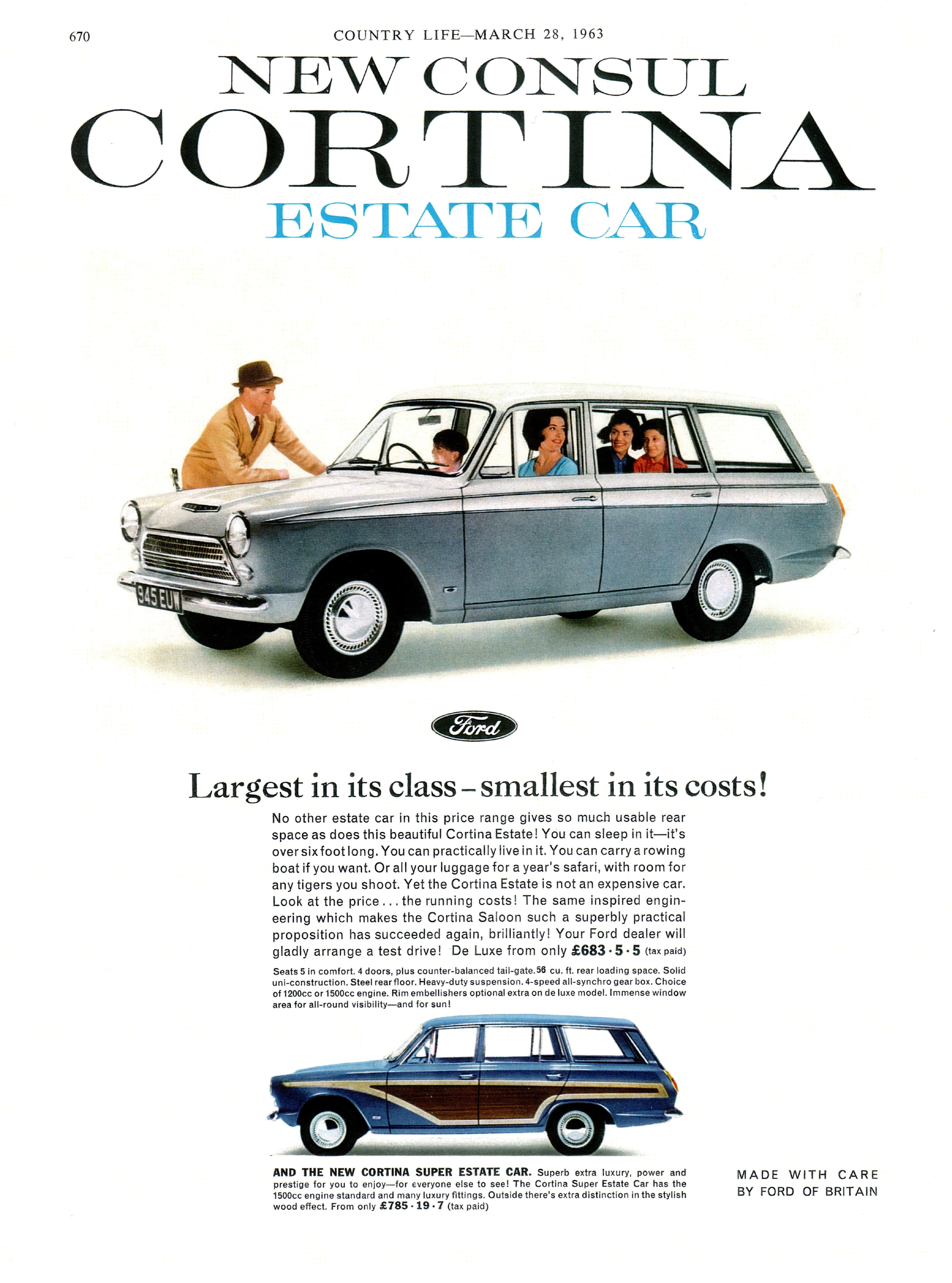 The 1963 Ford Cortina Estate car with the fake wooden panels were particularly unsuccessful and withdrawn  sc 1 st  Pinterest & The 1963 Ford Cortina Estate car with the fake wooden panels were ... markmcfarlin.com