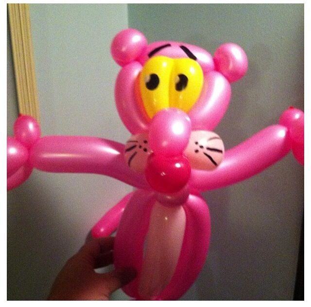 Pink Panther Balloon Character Pink Panther Tv Show Television Show Balloon Sculpture Twist Art Animal