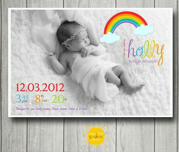 Pin by lu on Baby announcement | Rainbow baby announcement ...
