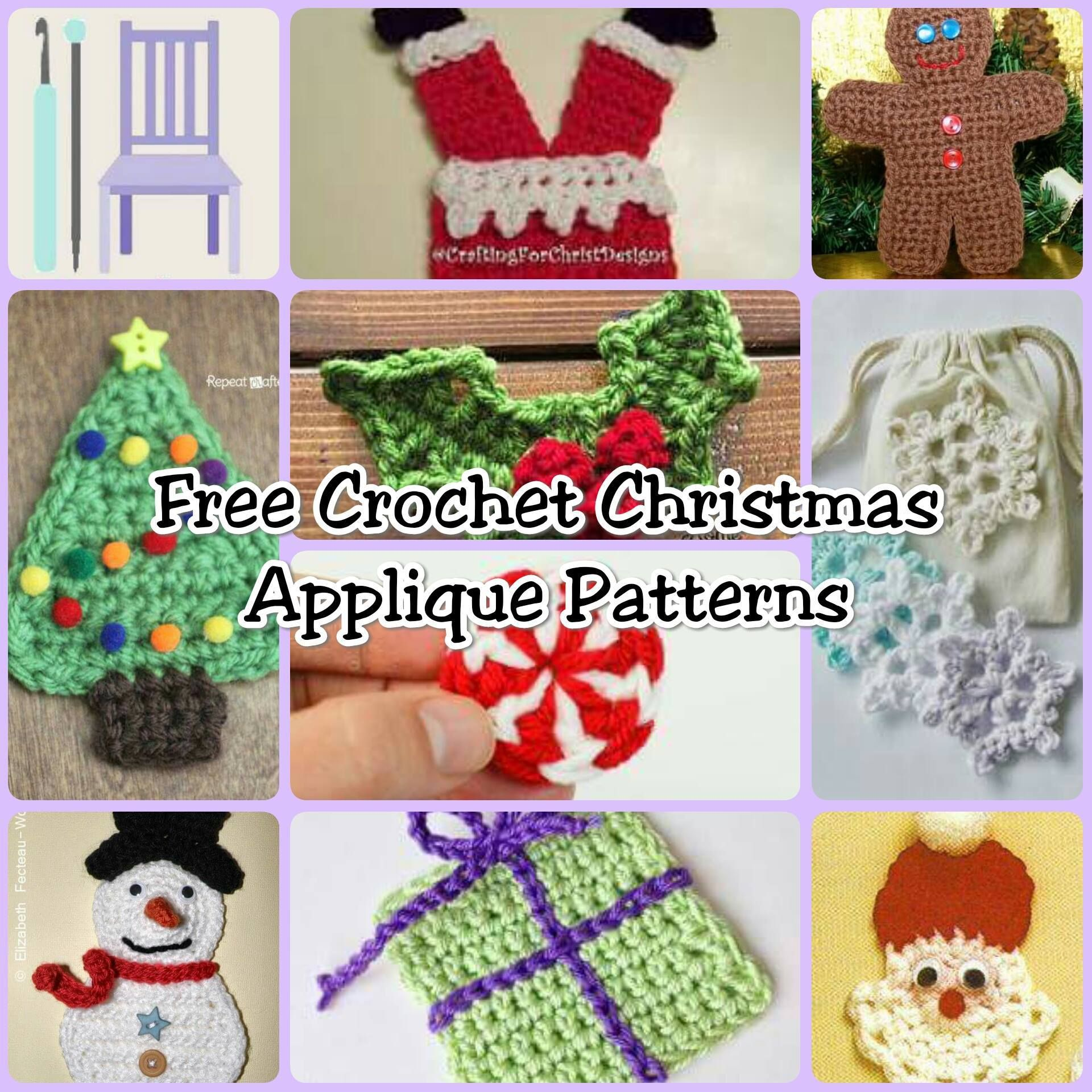 Free Crochet Christmas Applique Patterns  The Lavender Chair