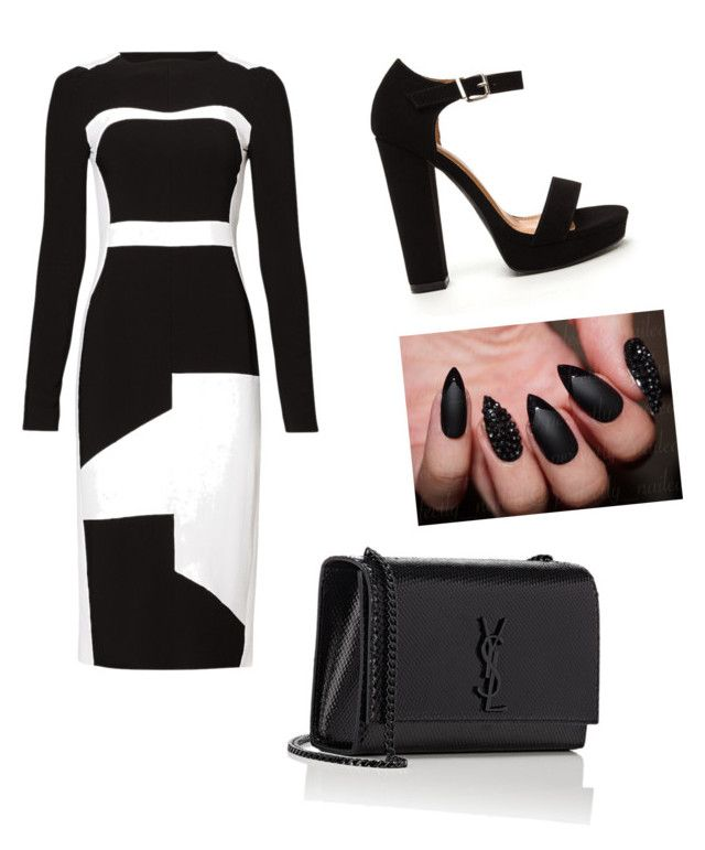 """""""Untitled #13"""" by blackloveheart ❤ liked on Polyvore featuring Antonio Berardi and Yves Saint Laurent"""