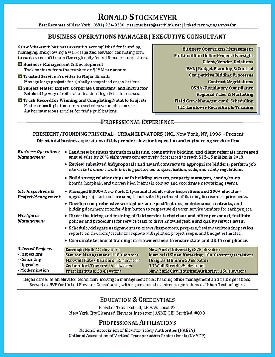 Business Operation Manager Resume Awesome The Most Excellent Business Management Resume Ever Check .