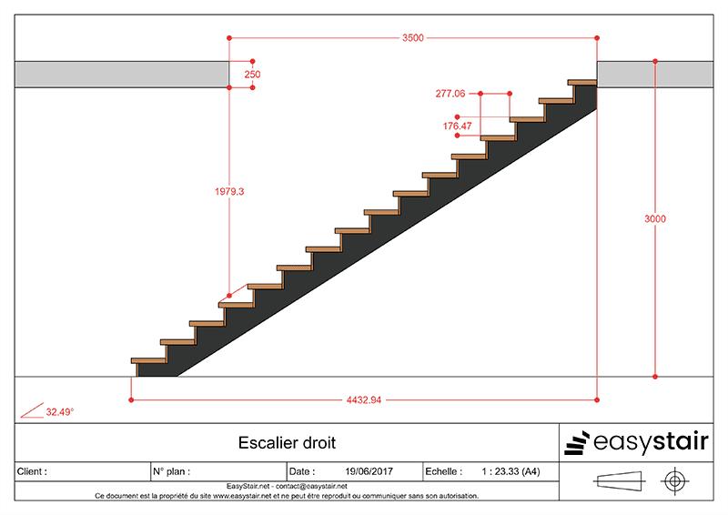 Plan Escalier Droit Escadas De Vidro Escadas De Concreto
