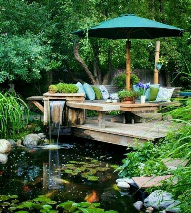Pin de Cristina Villarruel en estanques Pinterest Estanques - cascadas en jardines