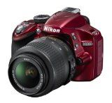 Nikon D3200 Digital SLR Camera with 18-55mm VR Lens Kit – Red (24.2MP) 3 inch LCD