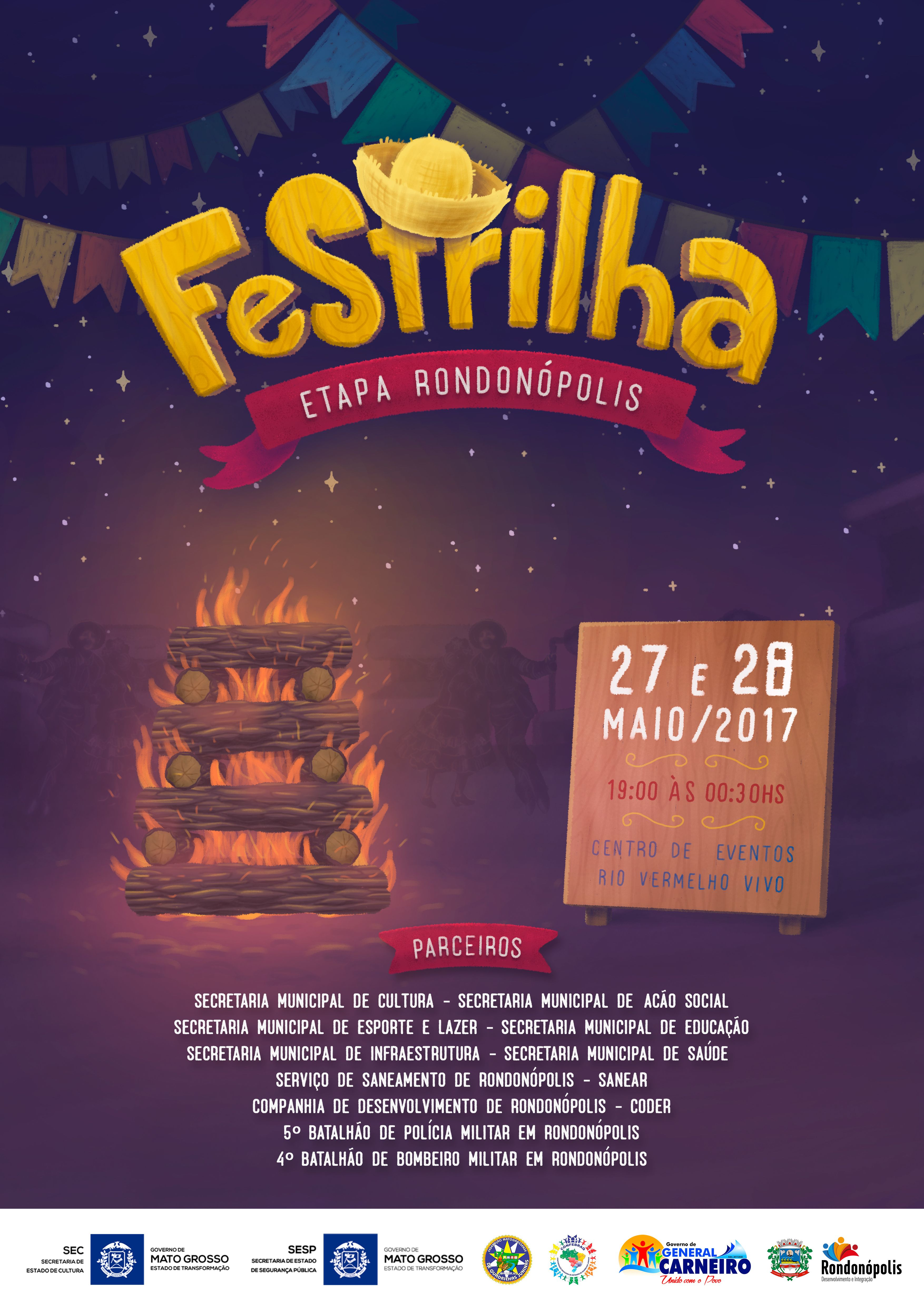 Cartaz Ilustrado para o Festrilha 2017 - Etapa de ROO   São João ... f0c3459c29