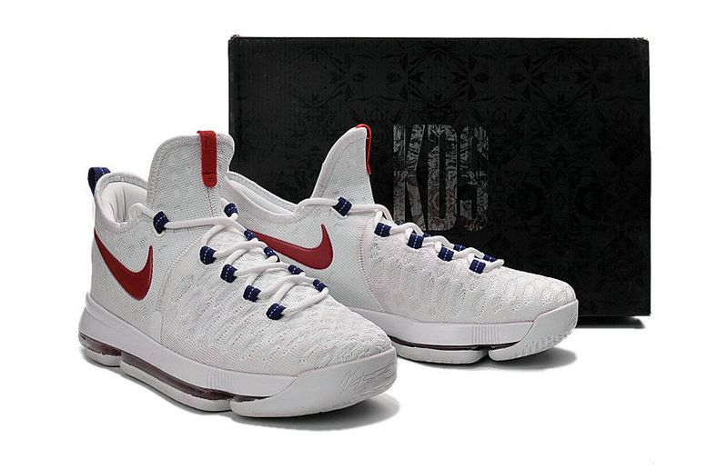 separation shoes eef0b 22bbe Cheapest KD IX 9 PREMIERE USA White Red Navy Mens Basketball Shoes 2018  Wholesale