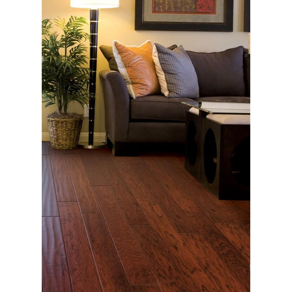Home Legend Hand Scraped Hickory Tuscany 38 in Thick x 434 in
