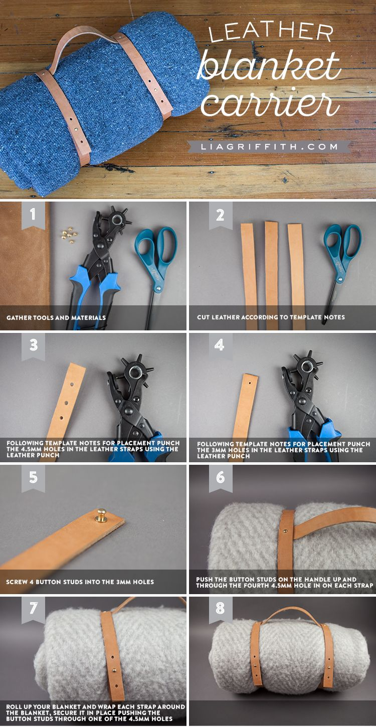 Make Your Own Leather Blanket Carrier for