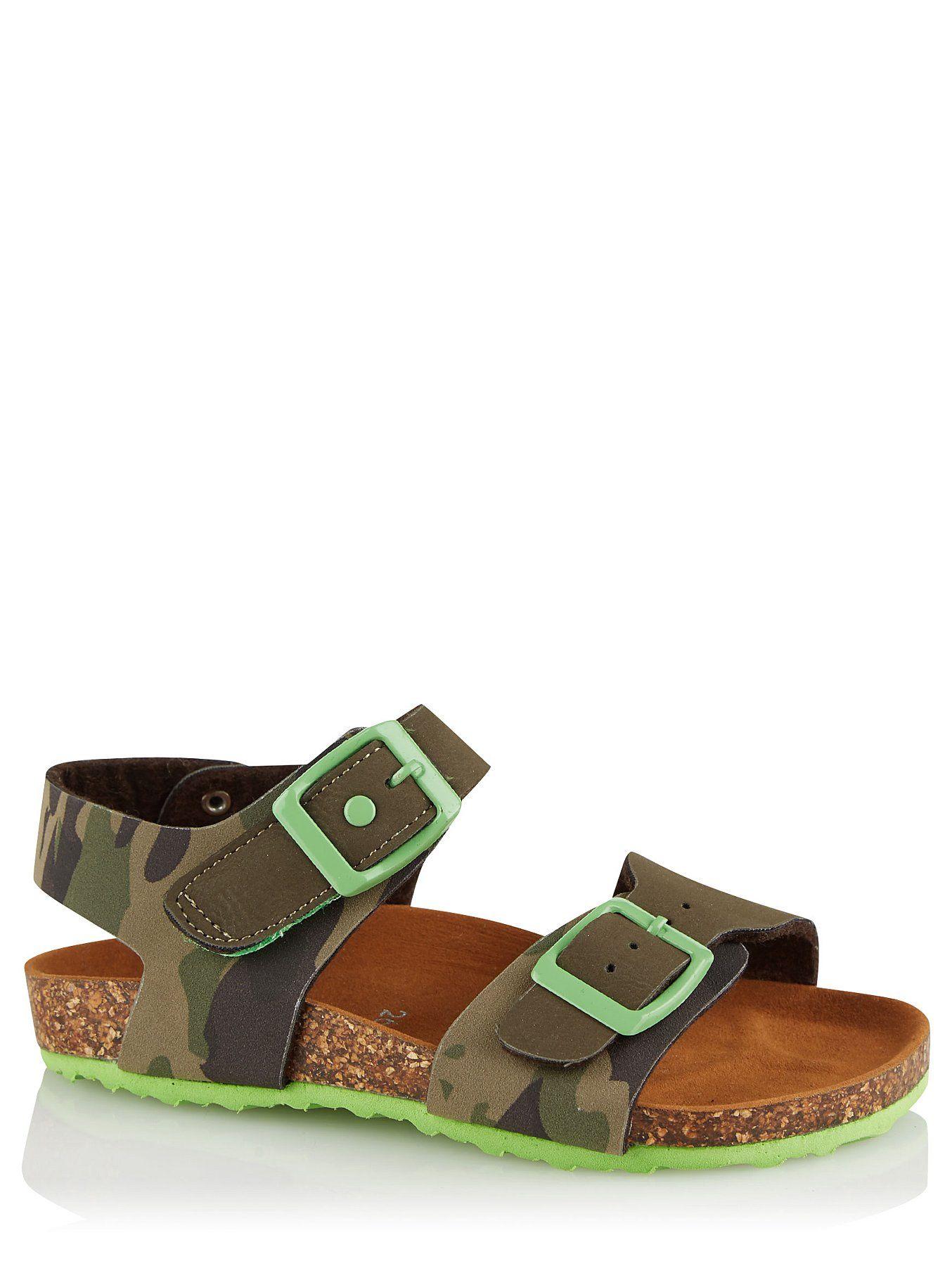 Camo Print Sling Back Sandals   Kids