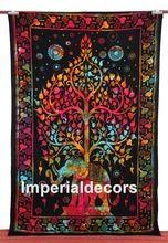 Bedsheet Indian Elephant Tapestry, Mandala Tree Life, Psychedelic Bedspread (TWIN SIZE, 100% PREMIUM QUALITY).(China (Mainland))