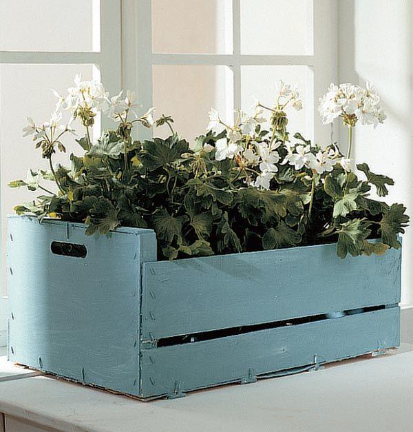 Flowers Cajas De Fruta Reciclar Cajas De Fruta Cajas Recicladas
