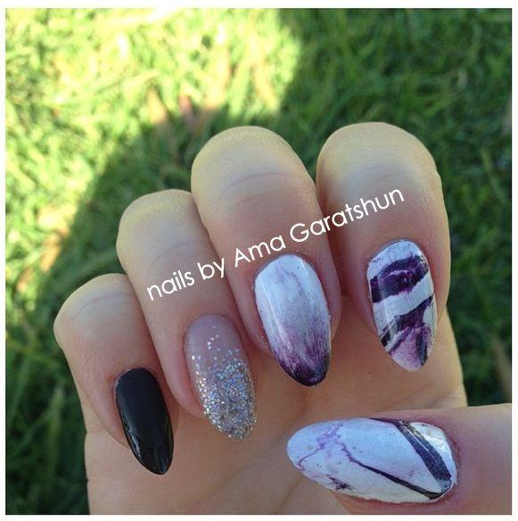 nail art by Ama Garatshun | Turquoise ring, Gemstones