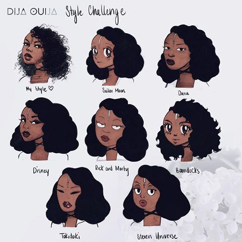 Image Result For Natural Hair Cartoons With Images Art Style