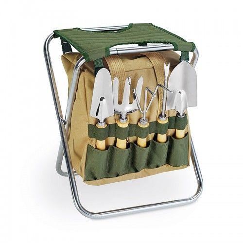 Master Gardener Tools & Seat Set