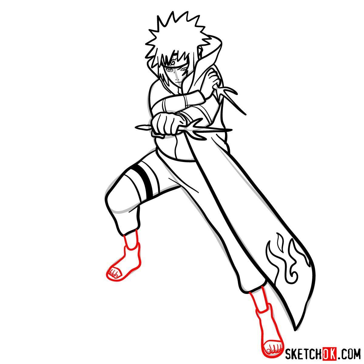 How to draw minato namikaze from naruto anime – Artofit