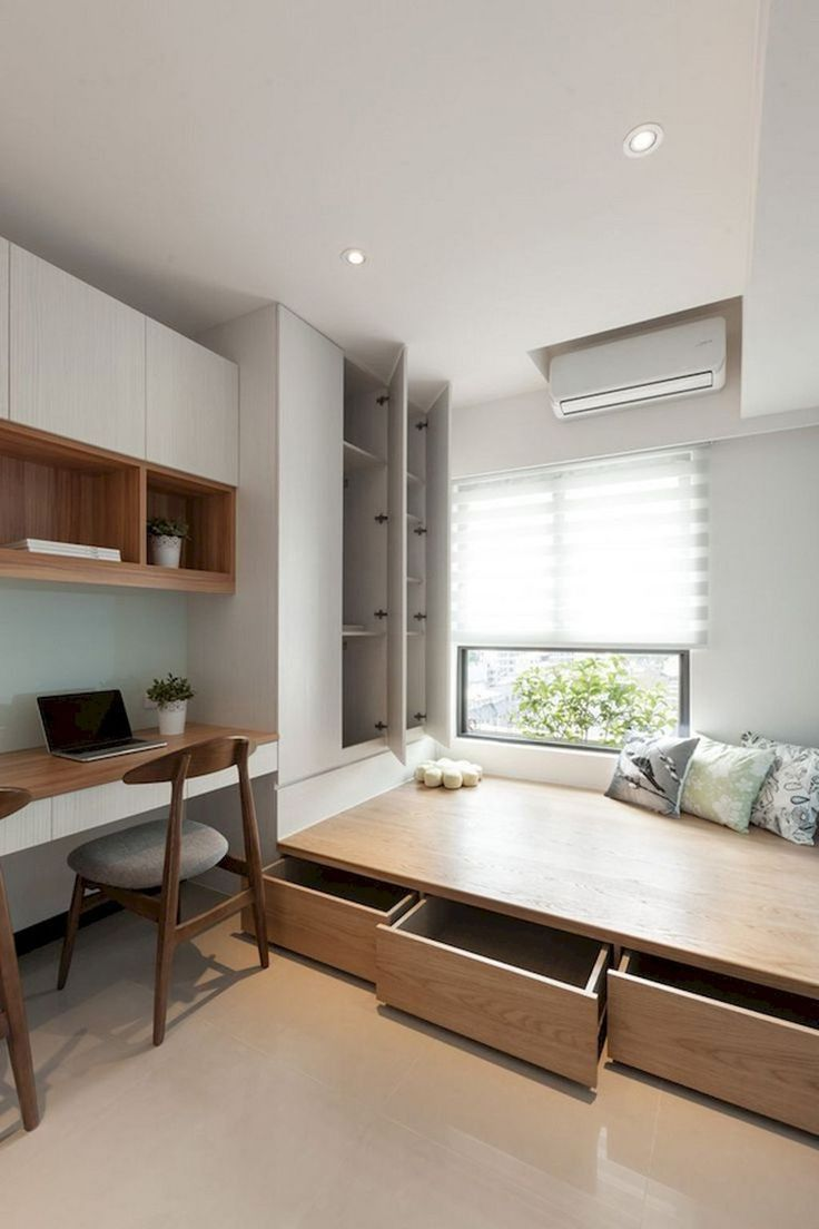Minimalist Small Bedroom Design 2021 in 2020 | Small room ...