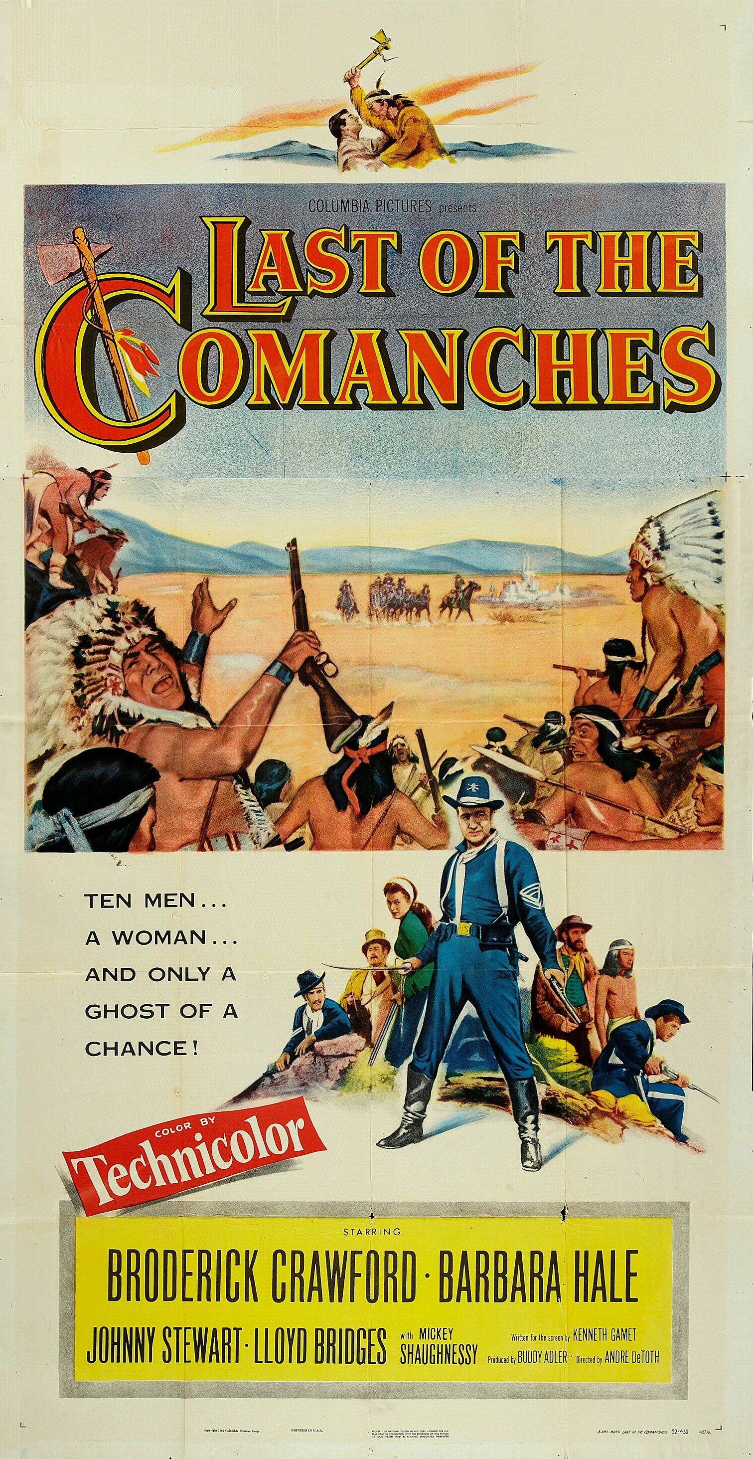 Le Sabre Et La Flèche : sabre, flèche, Comanches, André, Westerns,, Affiche, Cinéma,, Cinéma