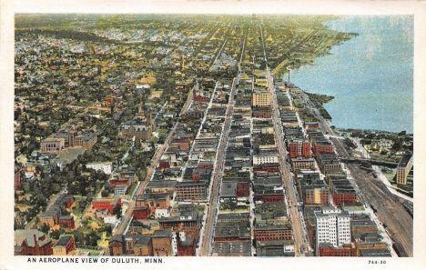 Aerial View Duluth Minnesota 1930 Duluth Minnesota Boundary