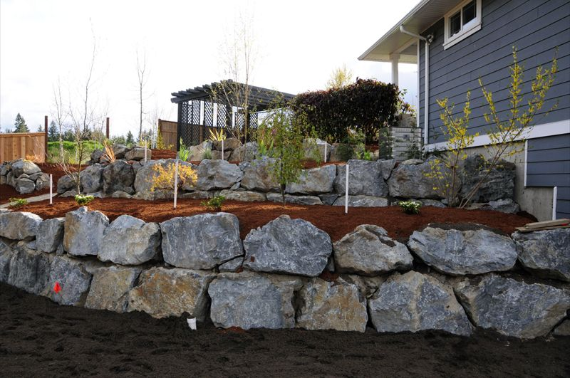 Large Quot Shot Rock Quot Retaining Wall Retaining Wall