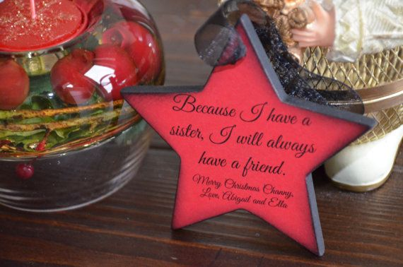 Personalized Christmas Ornament for Sister Christmas Pinterest